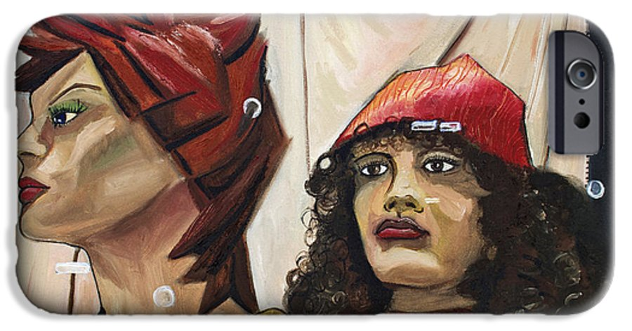 People IPhone 6 Case featuring the painting Nina And Star by Patricia Arroyo