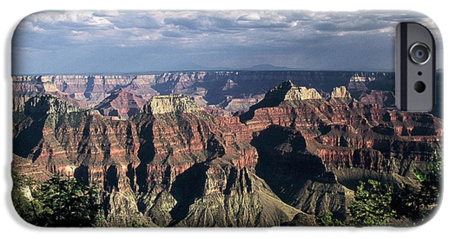 Grand Canyon; National Parks IPhone 6 Case featuring the photograph North Rim by Kathy McClure