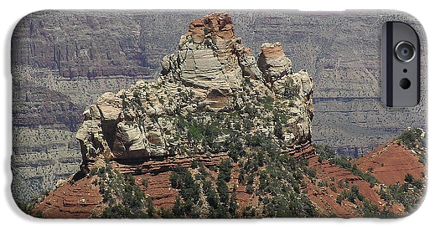 Rock IPhone 6 Case featuring the photograph North Rim Rock by Louise Magno