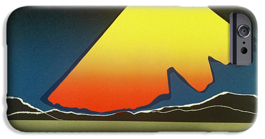 Landscape IPhone 6 Case featuring the mixed media Northern Light. by Jarle Rosseland