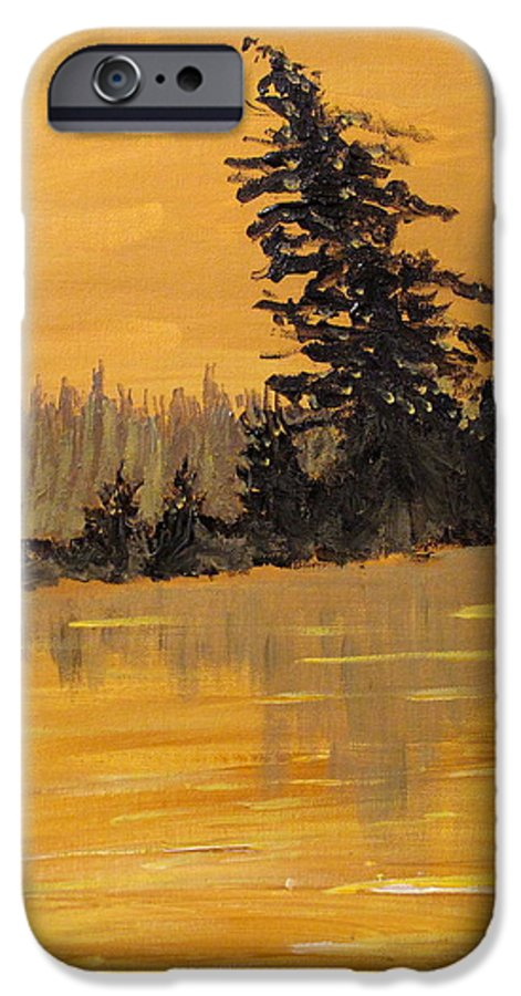 Northern Ontario IPhone 6 Case featuring the painting Northern Ontario Three by Ian MacDonald