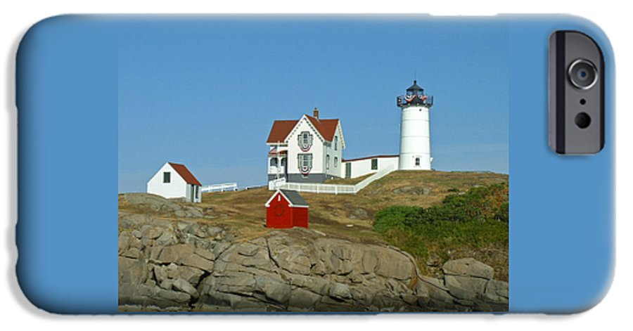 Nubble IPhone 6 Case featuring the photograph Nubble Light by Margie Wildblood