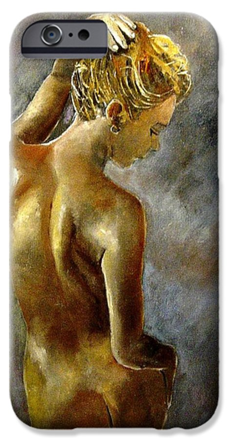 Girl Nude IPhone 6 Case featuring the painting Nude 27 by Pol Ledent