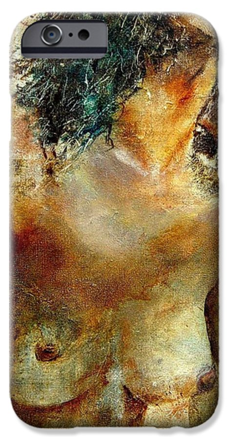 Girl Nude IPhone 6 Case featuring the painting Nude 34 by Pol Ledent