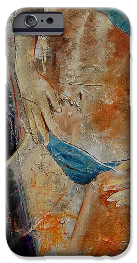 Girl Nude IPhone 6 Case featuring the painting Nude 450608 by Pol Ledent
