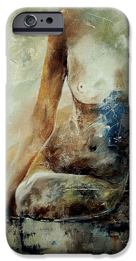 Nude IPhone 6 Case featuring the painting Nude 560408 by Pol Ledent