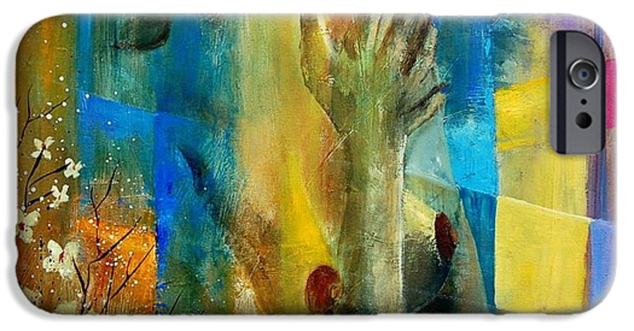 Nude IPhone 6 Case featuring the painting Nude 5609082 by Pol Ledent