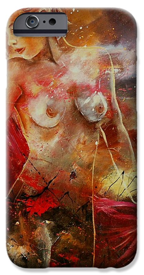 Nude IPhone 6 Case featuring the painting Nude 561008 by Pol Ledent