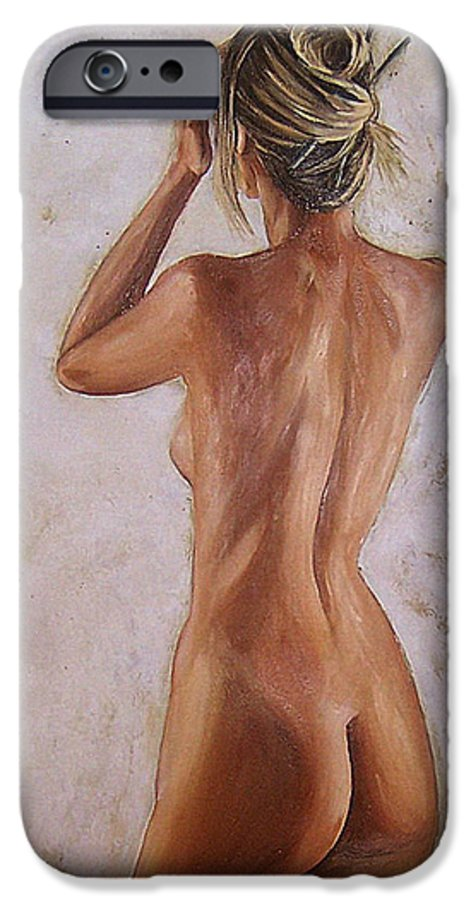 Nude IPhone 6 Case featuring the painting Nude by Natalia Tejera