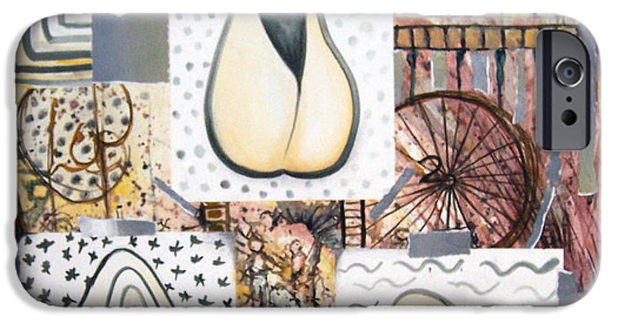Abstract IPhone 6 Case featuring the painting Nuts by Valerie Meotti