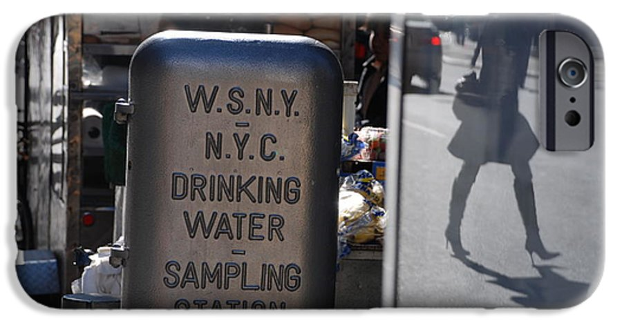 Street Scene IPhone 6 Case featuring the photograph Nyc Drinking Water by Rob Hans