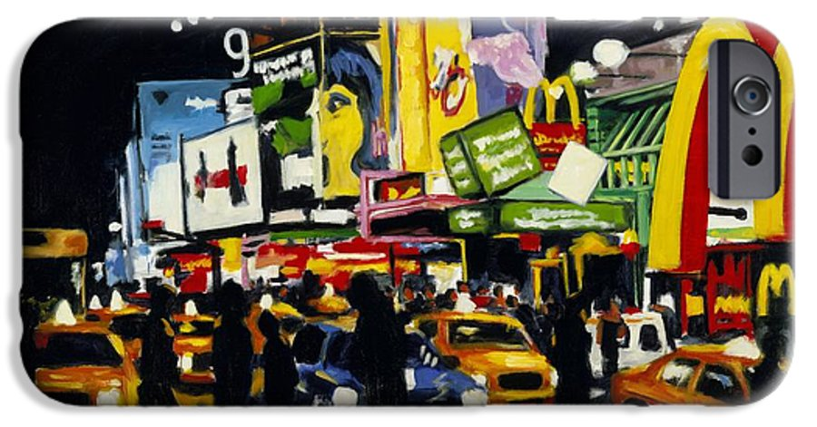 New York IPhone 6 Case featuring the painting Nyc II The Temple Of M by Robert Reeves