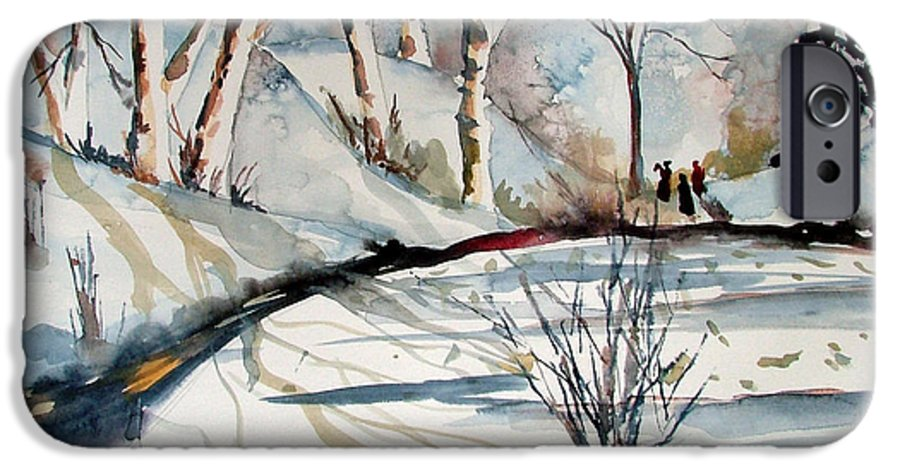 Winter IPhone 6 Case featuring the painting O Holy Night by Mindy Newman