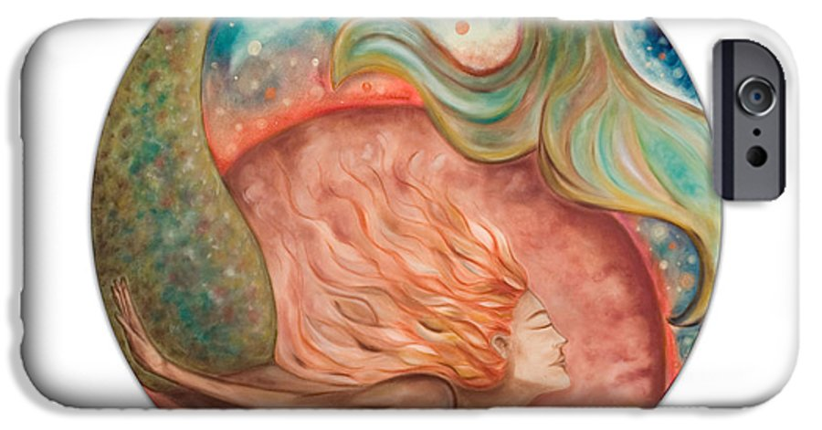 Ocean Spirit Inspiration Art Soul Spiritual IPhone 6 Case featuring the painting Ocean Spirit by Moira Gil