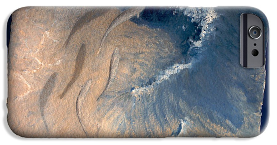 Seascape IPhone 6 Case featuring the painting Ocean by Steve Karol