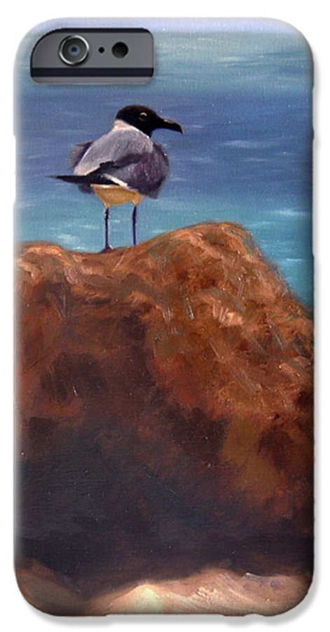 Oil IPhone 6 Case featuring the painting Ocean View by Greg Neal