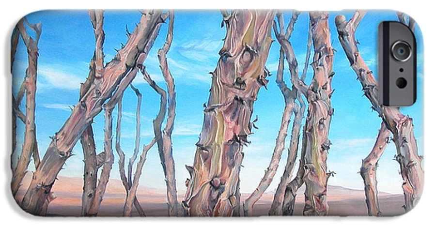 Floral Painting IPhone 6 Case featuring the painting Ocotilla by Muriel Dolemieux