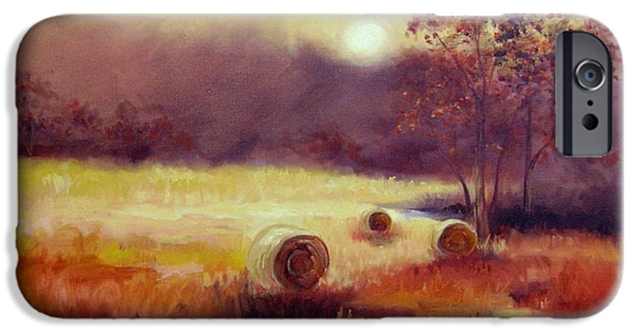 Fall Landscapes IPhone 6 Case featuring the painting October Pasture by Ginger Concepcion