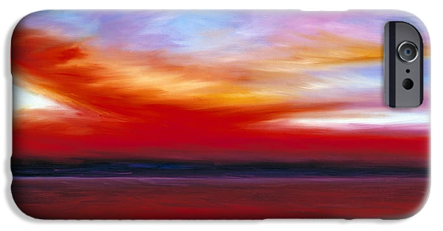 Clouds IPhone 6 Case featuring the painting October Sky by James Christopher Hill