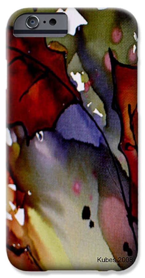 Leaf IPhone 6 Case featuring the mixed media Octoberfirst by Susan Kubes