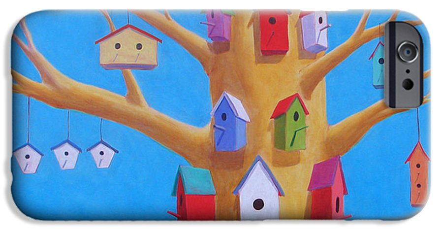 Bird House IPhone 6 Case featuring the painting Off Season 4 by Scott Gordon