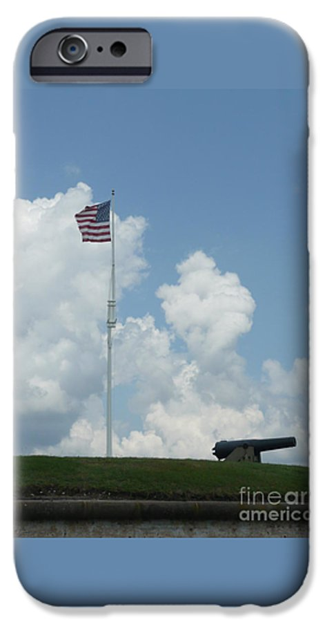 Flag IPhone 6 Case featuring the photograph Oh Say Can You See by Barb Montanye Meseroll
