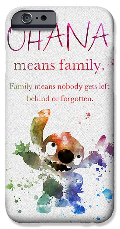promo code 1acf2 cd004 Ohana Means Family IPhone 6 Case