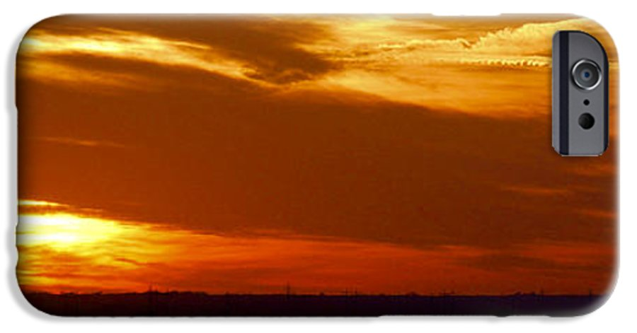Landscape IPhone 6 Case featuring the photograph Oklahoma Sunset by Larry Keahey