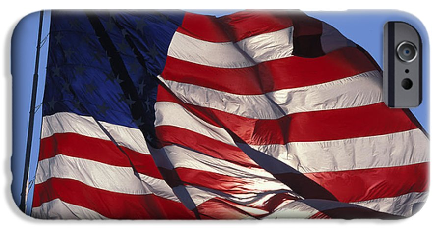 American IPhone 6 Case featuring the photograph Old Glory by Carl Purcell