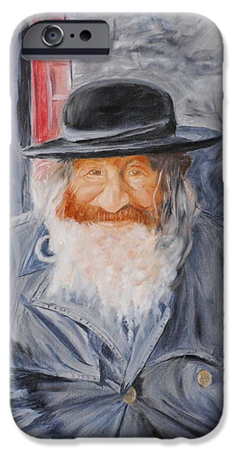 Jerusalem IPhone 6 Case featuring the painting Old Man Of Jerusalem by Quwatha Valentine