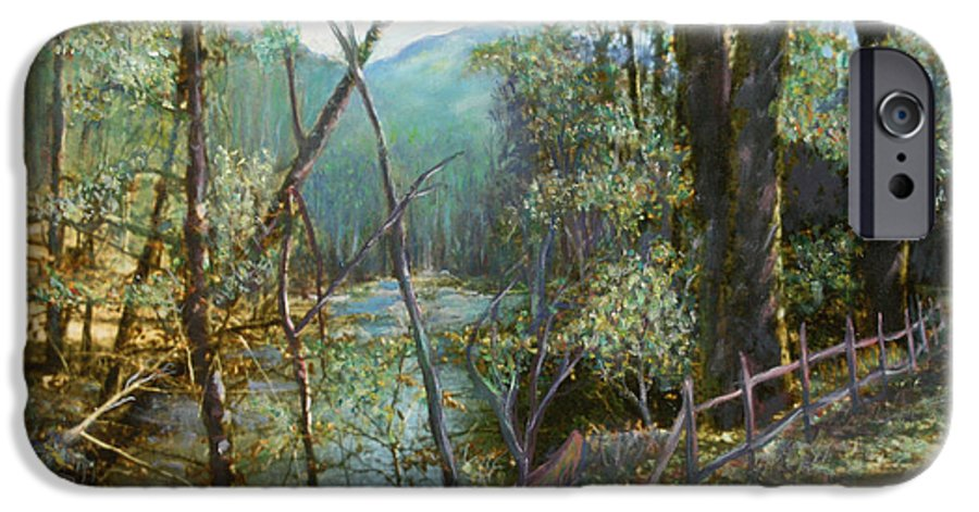 River; Trees; Landscape IPhone 6 Case featuring the painting Old Man River by Ben Kiger