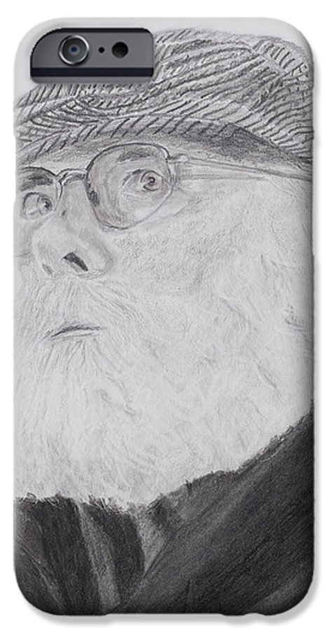 Portrait IPhone 6 Case featuring the drawing Old Man With Beard by Quwatha Valentine