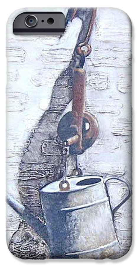 Old Metal Still Life IPhone 6 Case featuring the painting Old Metal by Natalia Tejera