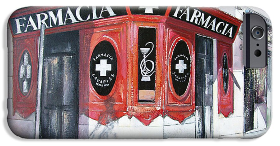 Pharmacy IPhone 6 Case featuring the painting Old Pharmacy by Tomas Castano