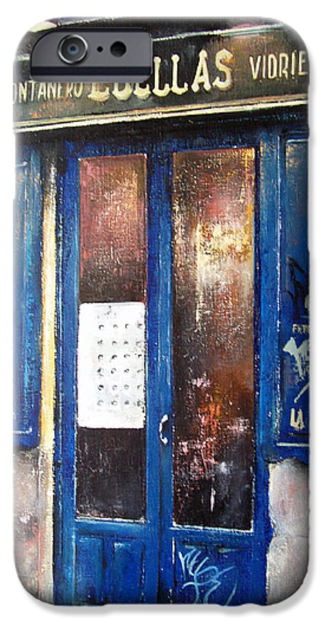 Old IPhone 6 Case featuring the painting Old Plumbing-madrid by Tomas Castano
