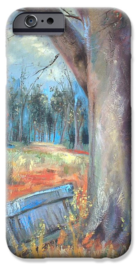 Country Scenes IPhone 6 Case featuring the painting Old Times by Ginger Concepcion