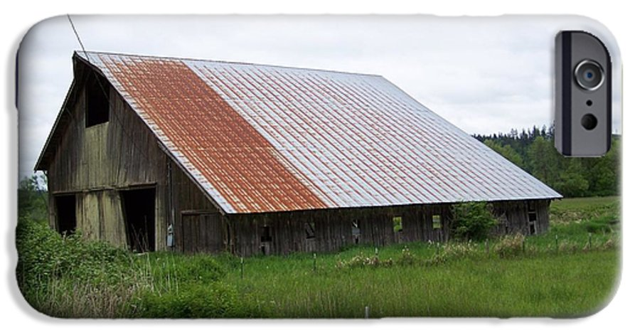 Barn IPhone 6 Case featuring the photograph Old Tin Roof Barn Washington State by Laurie Kidd