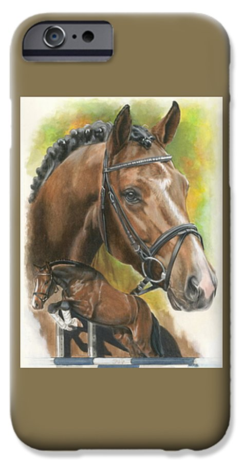 Horse IPhone 6 Case featuring the mixed media Oldenberg by Barbara Keith