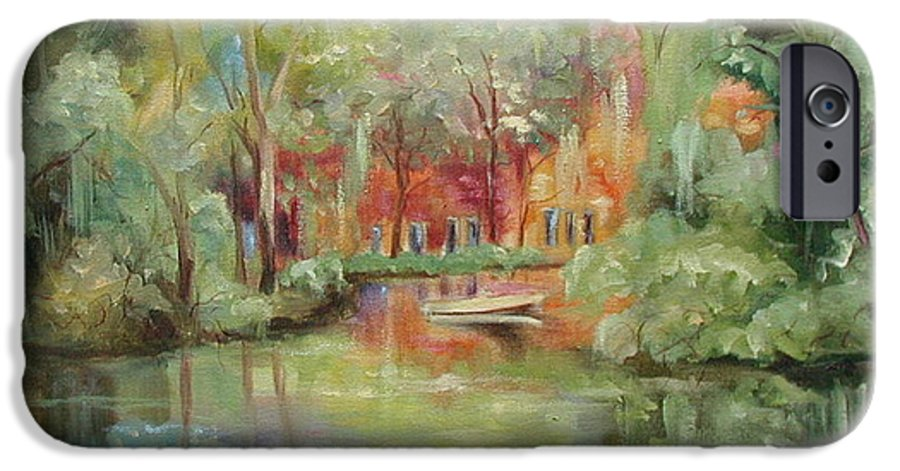 Bayou IPhone 6 Case featuring the painting On A Bayou by Ginger Concepcion