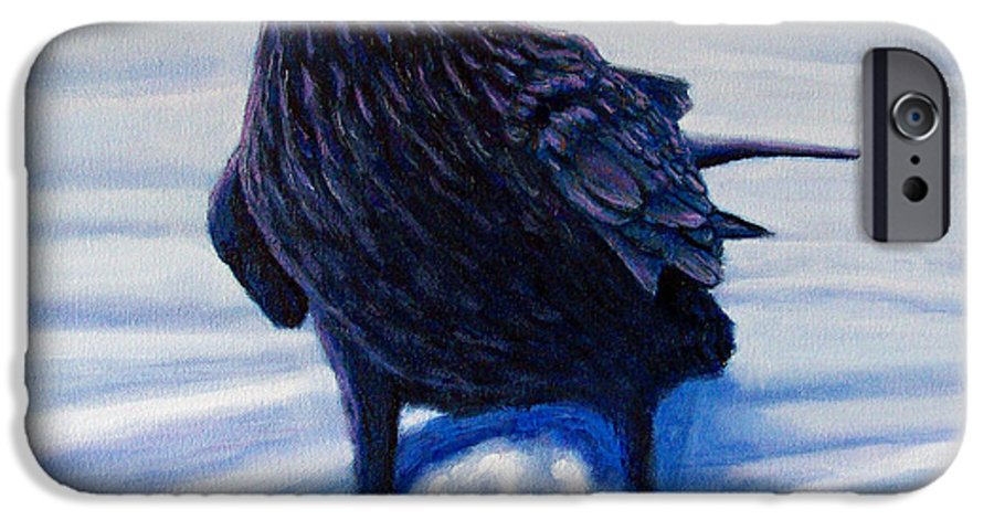 Raven IPhone 6 Case featuring the painting On Canyon Road by Brian Commerford