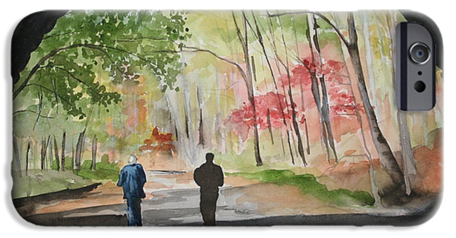 Road IPhone 6 Case featuring the painting On The Road To Nowhere by Jean Blackmer