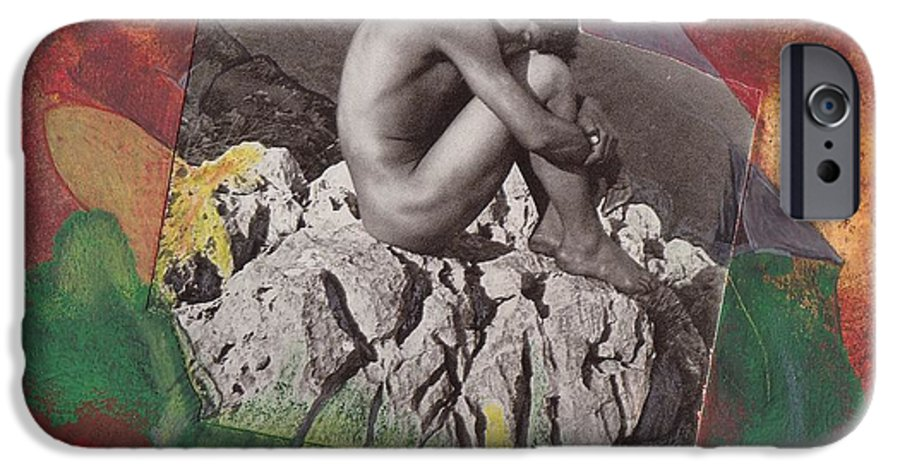 Rocks IPhone 6 Case featuring the mixed media On The Rocks by Michael Puya