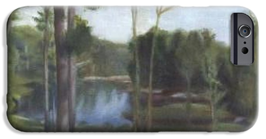 Landscape IPhone 6 Case featuring the painting Once by Sheila Mashaw