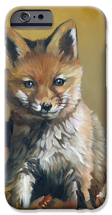 Fox IPhone 6 Case featuring the painting Once Upon A Time by J W Baker