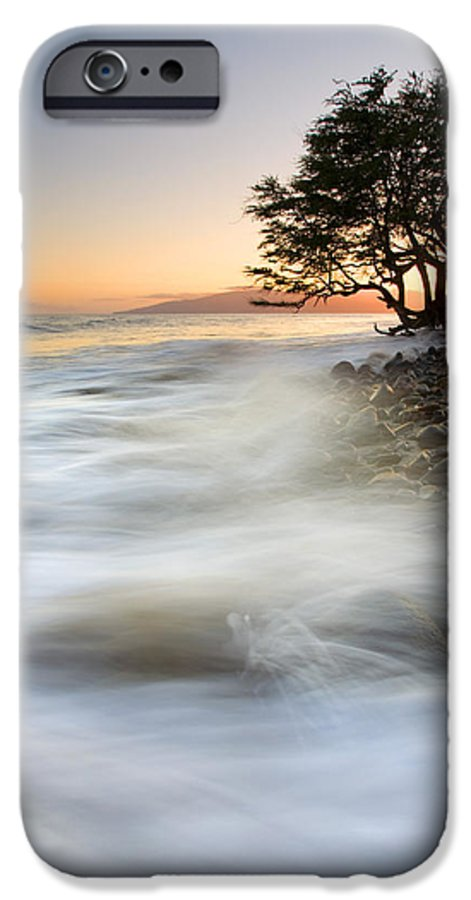 Sunset IPhone 6 Case featuring the photograph One Against The Tides by Mike Dawson