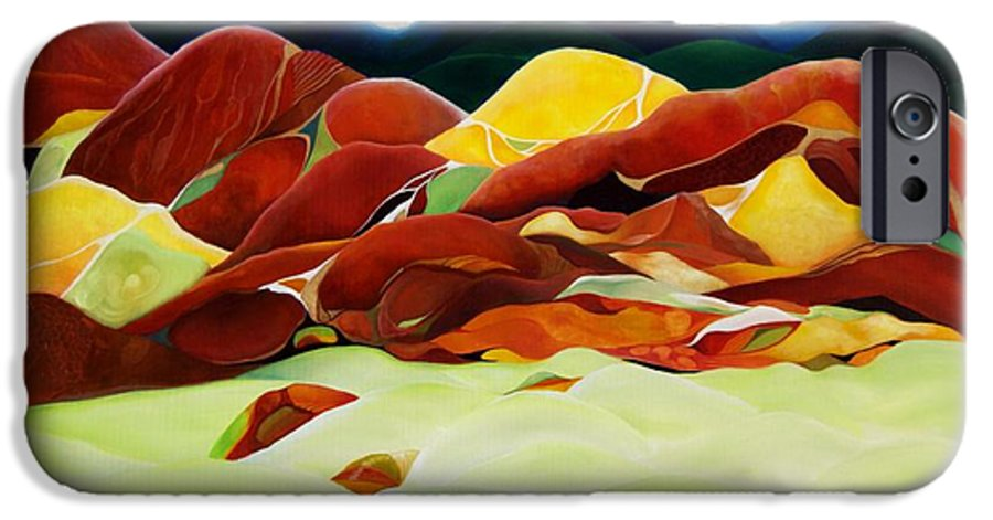 Oil IPhone 6 Case featuring the painting One Step Up From Third by Peggy Guichu