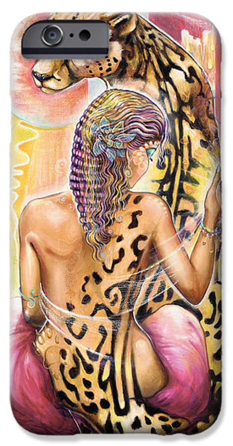 Animals IPhone 6 Case featuring the painting Oneness by Blaze Warrender