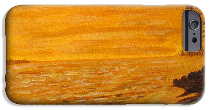 Ocean IPhone 6 Case featuring the painting Orange Beach by Ian MacDonald