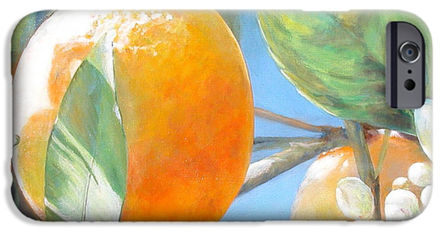 Floral Painting IPhone 6 Case featuring the painting Orange by Muriel Dolemieux