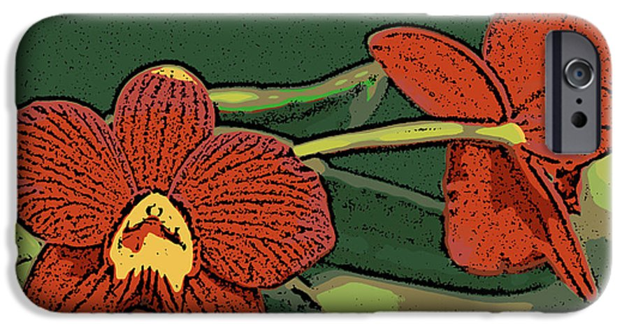Orchid IPhone 6 Case featuring the photograph Orange Orchids by Ann Tracy